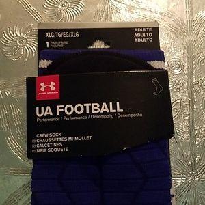 UA Football Crew Socks XL Under Armour Adult Blue